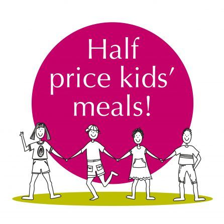 Kids eat for less in the greencafe!